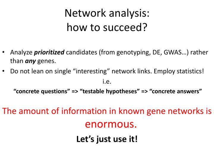 Network analysis:
