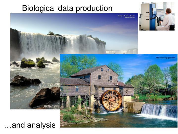 Biological data production