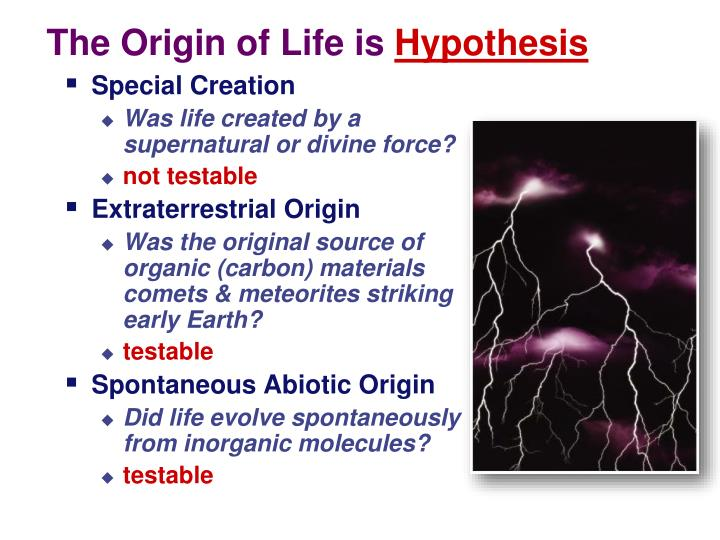 a mesophilic origin of life essay The origin of a significant quantity of the large, complex macromolecules -- proteins, dna, rna, and complex carbohydrates -- is a problem that dwarfs all earlier problems, as impossible as their solution may seem.