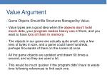 value argument