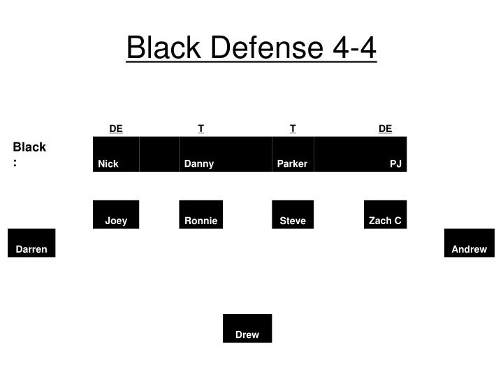 Black Defense 4-4
