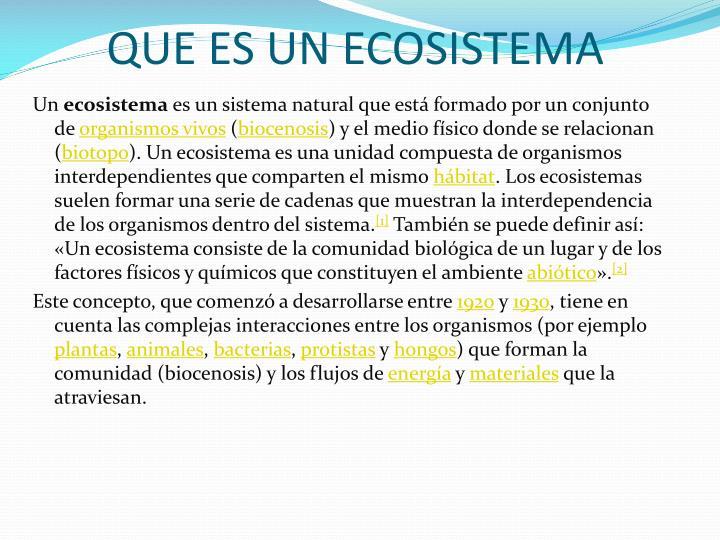Que es un ecosistema