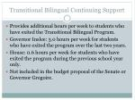transitional bilingual continuing support
