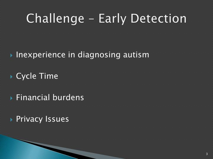 Challenge early detection