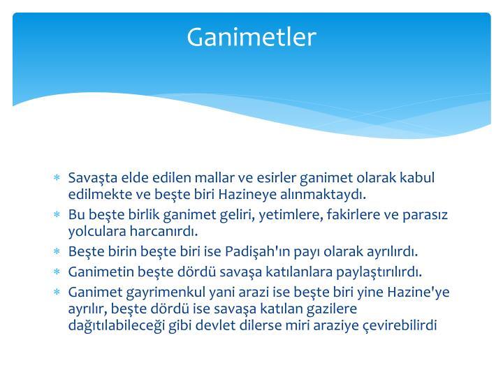 Ganimetler