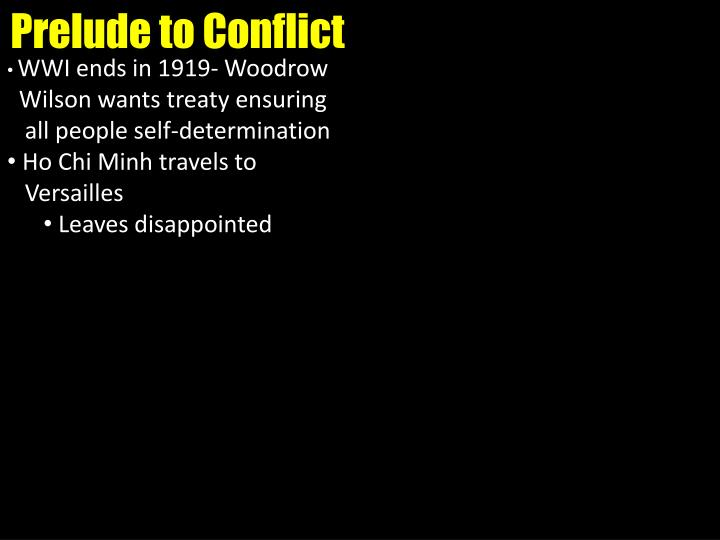 Prelude to Conflict
