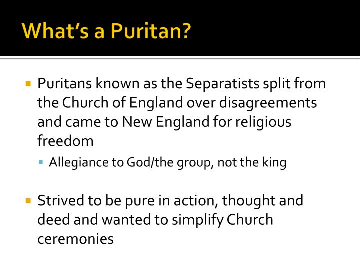What s a puritan