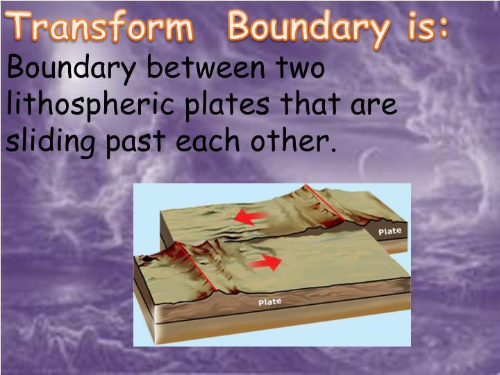 Transform  Boundary is: