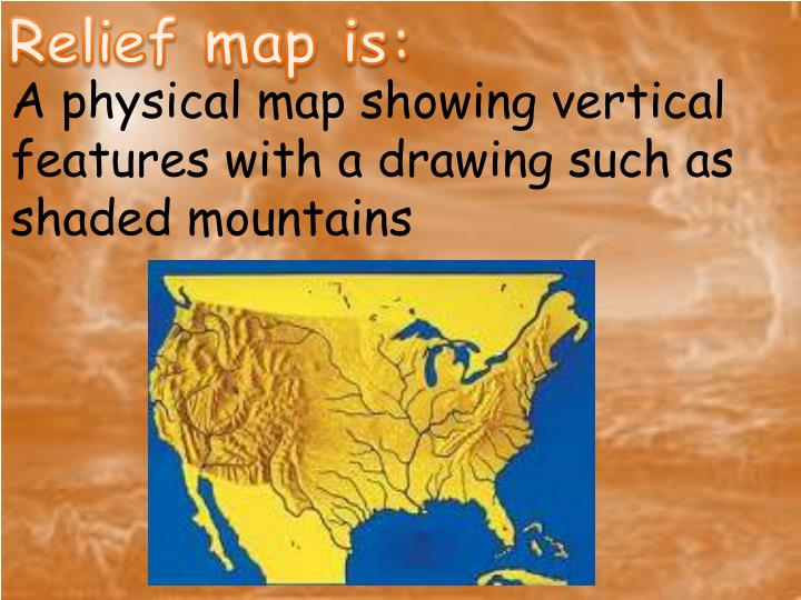 Relief map is: