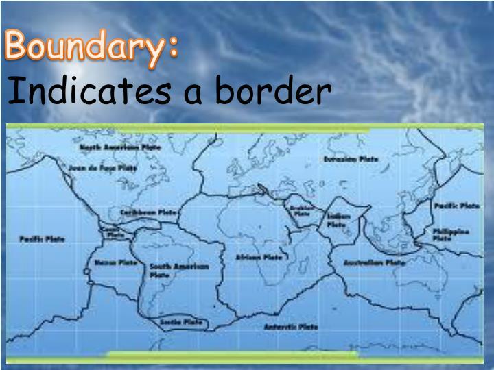 Boundary: