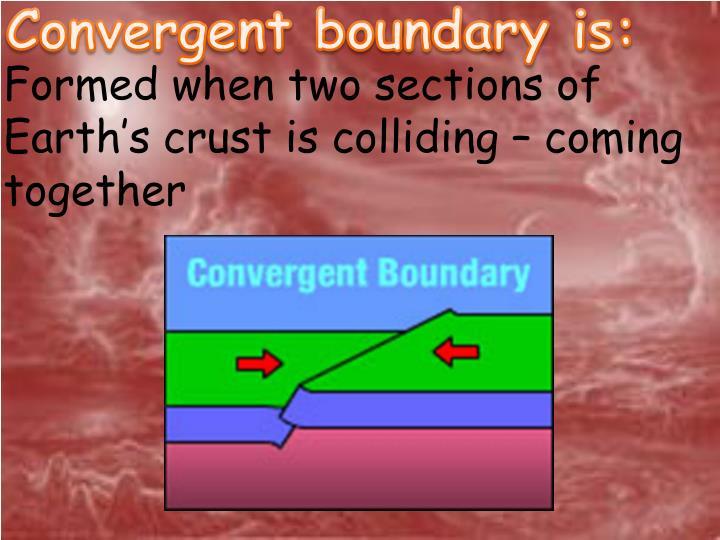 Convergent boundary is: