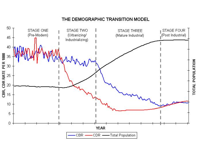 demography and demographic transition phase The demographic transition model and its 5 stages page history last edited by kate lloyd 8 years, 3 months ago  stage 1: high fluctuation - high.