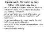 1 paperwork file folder by laws folder info sheet pay dues
