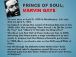 prince of soul marvin gaye
