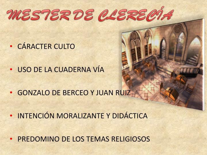 MESTER DE CLERECÍA