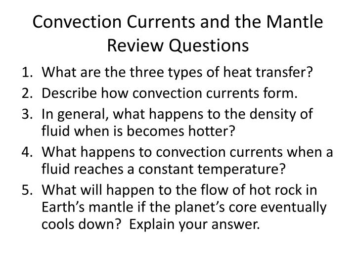 PPT - Earth's Interior & Convection Currents and the Mantle ...