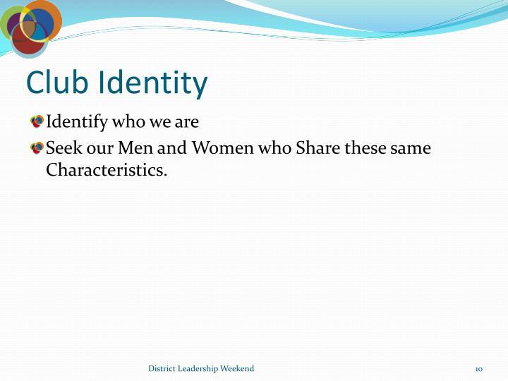 Club Identity