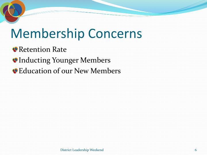Membership Concerns