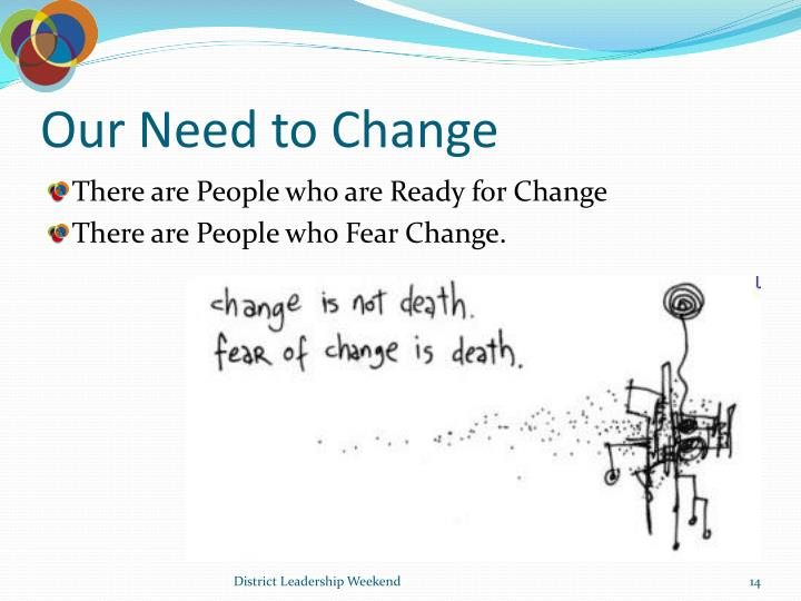 Our Need to Change