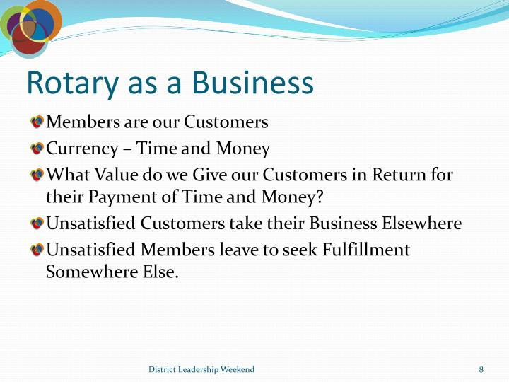 Rotary as a Business