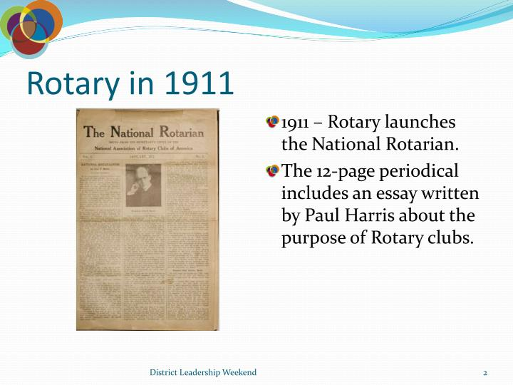 Rotary in 1911