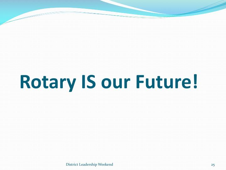 Rotary IS our Future!