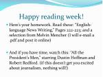 happy reading week