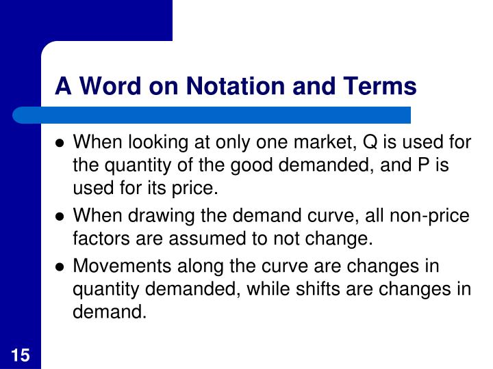A Word on Notation and Terms