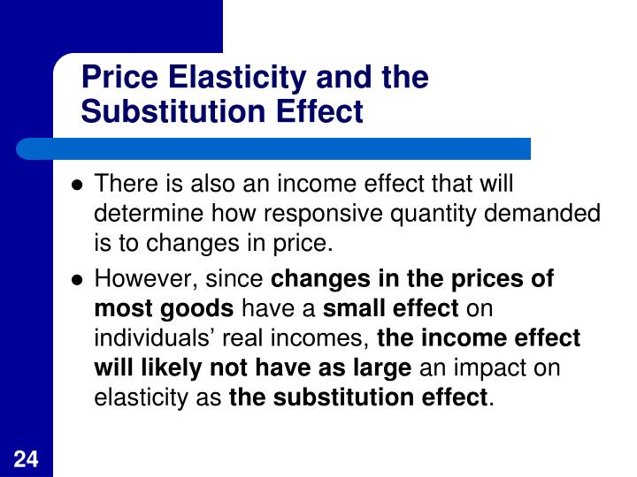 Price Elasticity and the Substitution Effect
