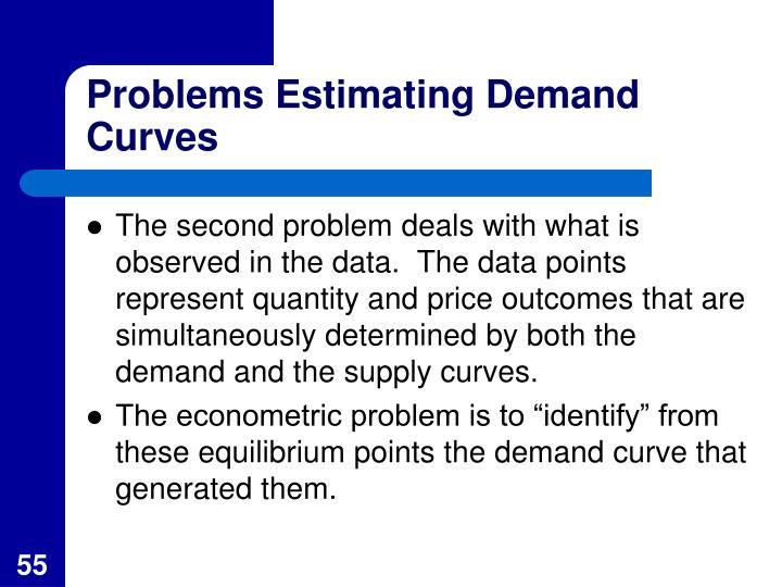 Problems Estimating Demand Curves