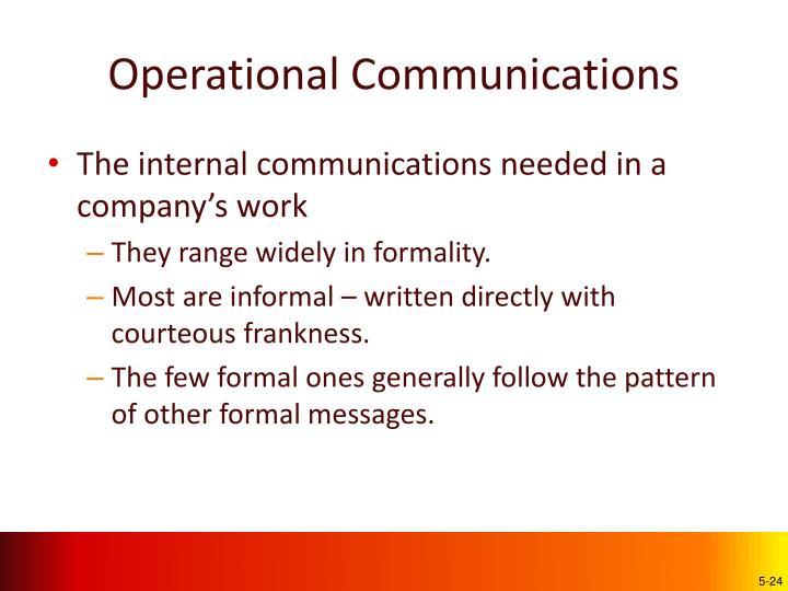 Operational Communications