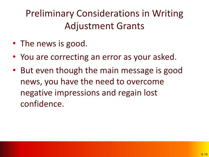 Preliminary Considerations in Writing