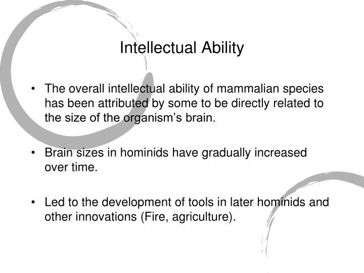 Intellectual Ability