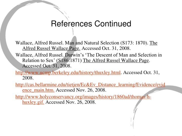 References Continued