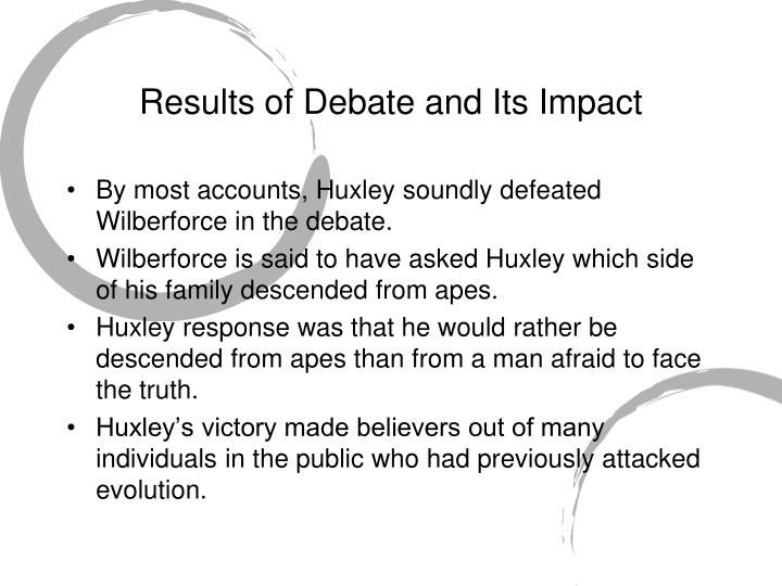 Results of Debate and Its Impact