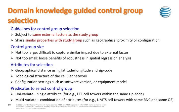 Domain knowledge guided control group selection