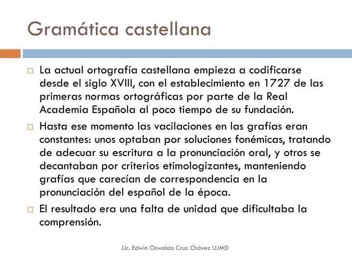 Gram tica castellana