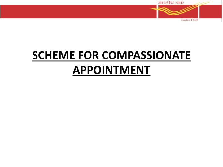scheme for compassionate appointment n.