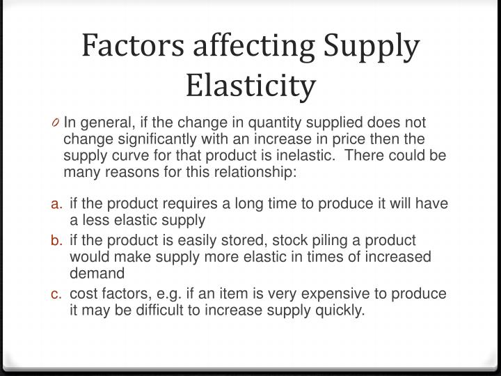 factors affecting quantity supplied