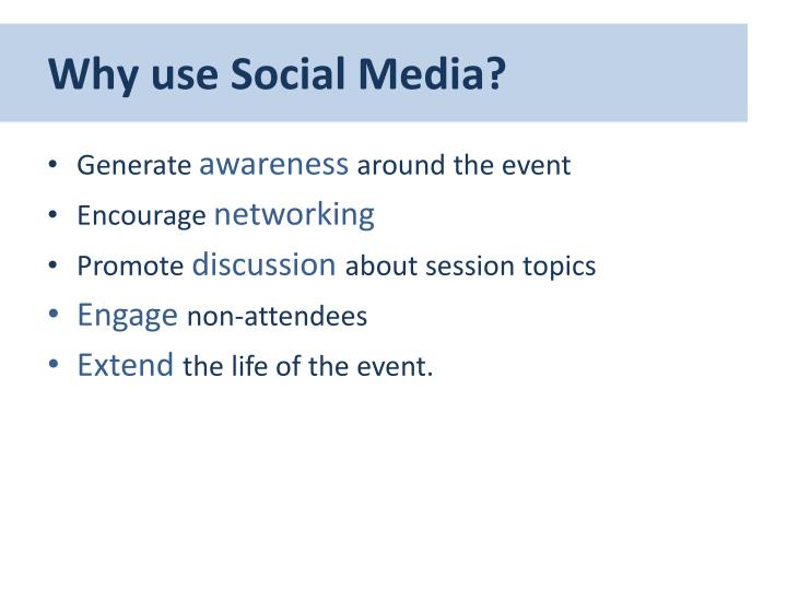 Why use social media
