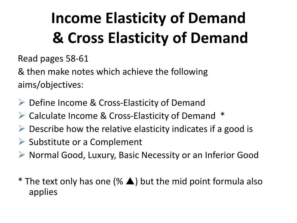 Ppt Elasticities Powerpoint Presentation Free Download Id 2099350