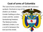 c oat of arms of colombia