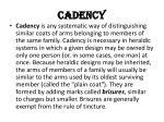 cadency