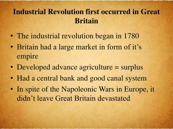 an analysis of the first british industrial revolution