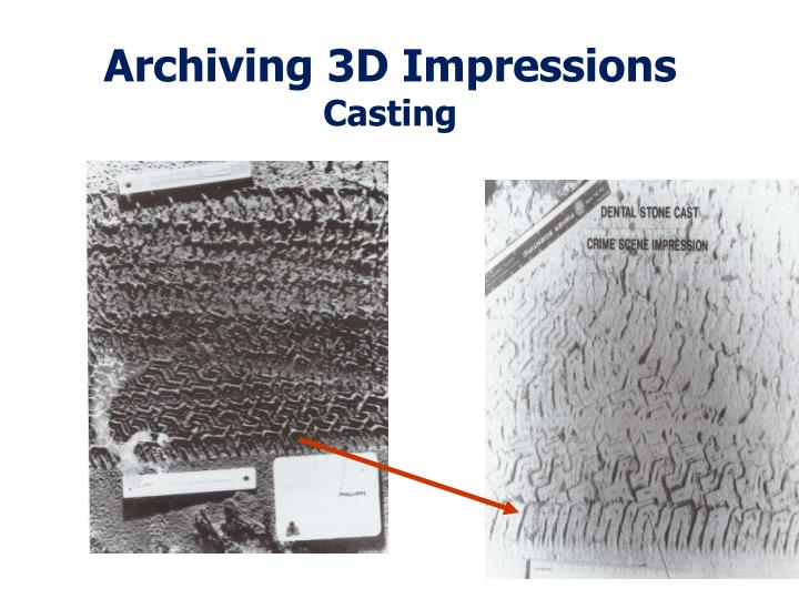 Archiving 3D Impressions