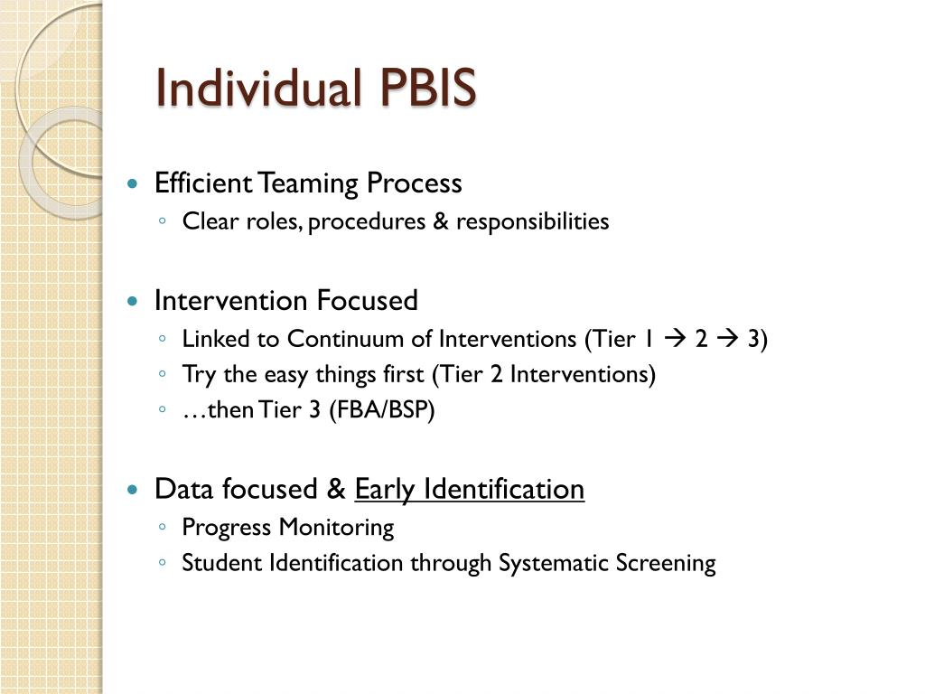 PPT - Tier 2 Continuum of Behavior Support Data, Teaming