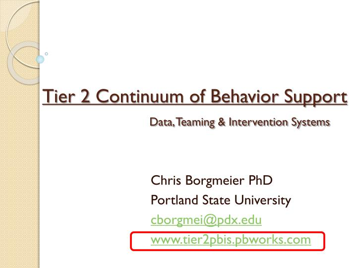 tier 2 continuum of behavior support data teaming intervention systems n.