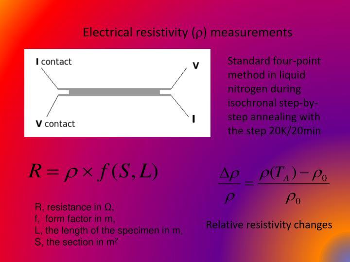 Electrical resistivity (