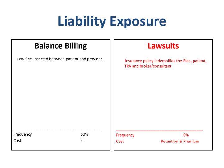 Liability exposure