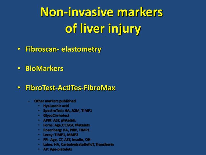 Non-invasive markers